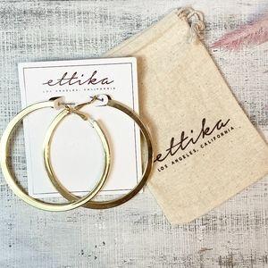 Ettika Calypso Hoop Earrings In Gold